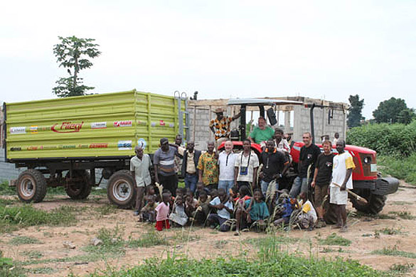 GHANA: Tractor Donation Increases Capacity for Students at Salesian Center