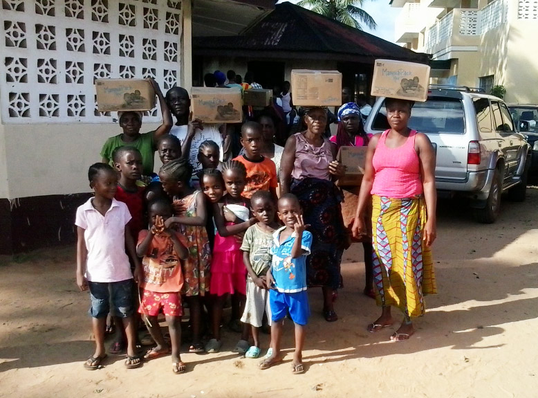 LIBERIA: More than 1,200 Boxes of Rice-Meals Provided to Salesian Programs Thanks to Partnership with Feed My Starving Children