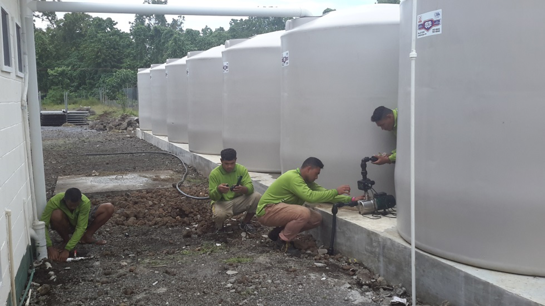 SAMOA: Salesian Missions Funds New Water Tank Project at Don Bosco College and Vocational Center
