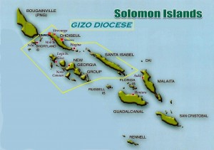 solomon islands gizo diocese map